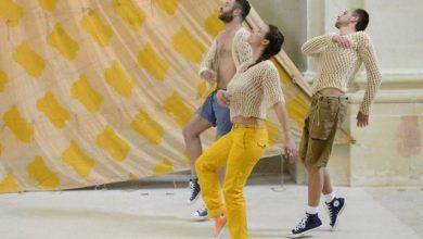 Photo de Prendre le large avec les voiles de Viallat et les danseurs du CCNN