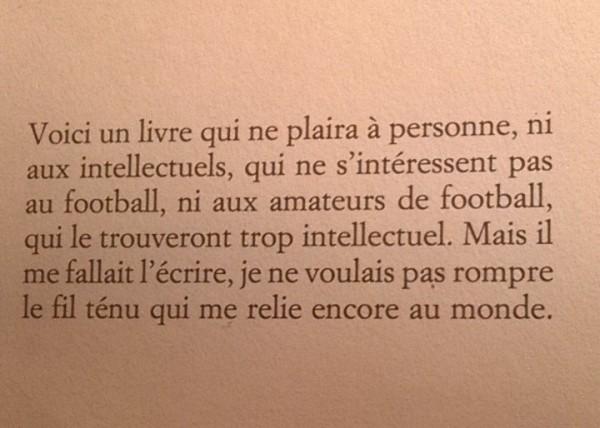 Avertissement Football Jean-Philippe Toussaint