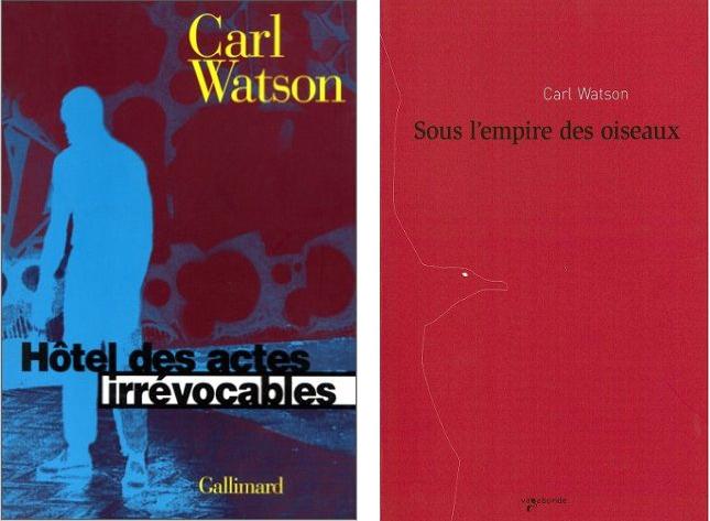 Carl Watson - Hôtel des actes irrévocables (Gallimard) et Sous l'empire des oiseaux (Vagabonde)