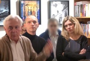 Céline Leroy avec Pierre Léglise-Costa (traducteur de Fernando Pessoa) et Eric Boury (traducteur d'Arnaldur Indridason) à la librairie Les mots et les choses de Boulogne, février 2016