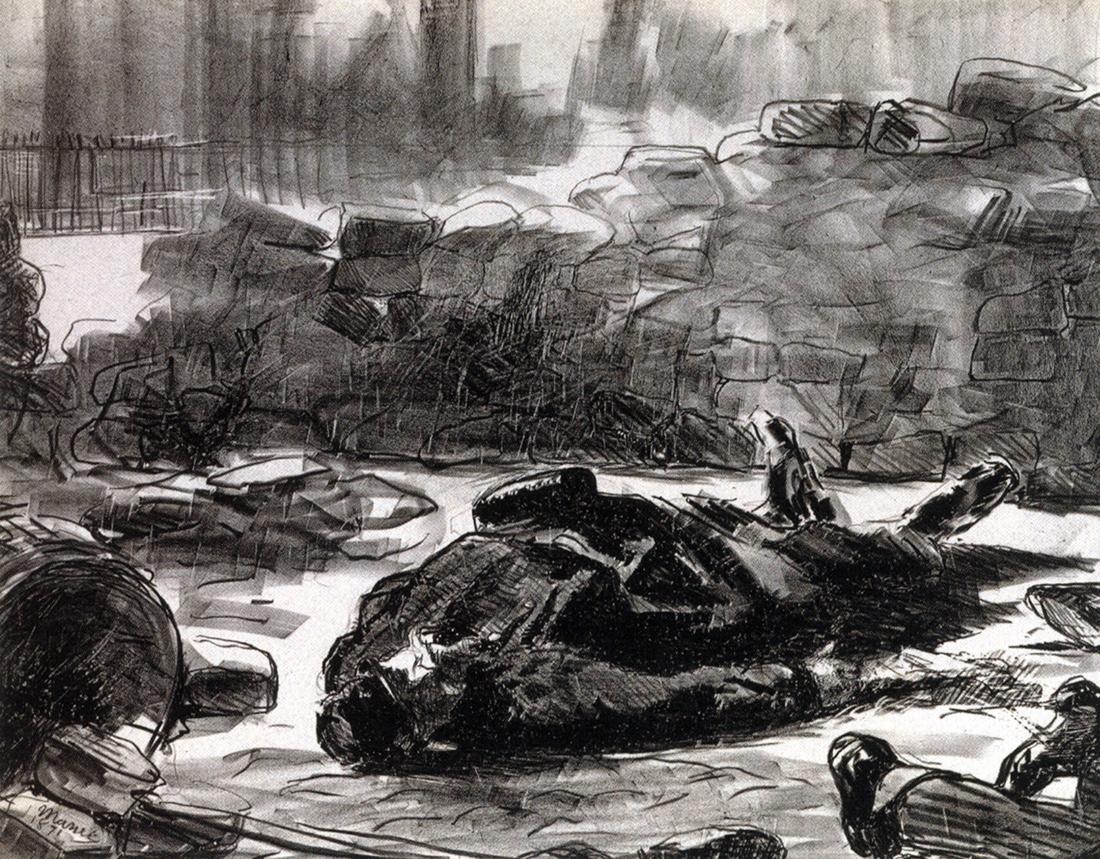 Guerre civile, 1871, Édouard MANET. © Musée Carnavalet / Roger-Viollet