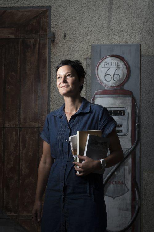 Marie Musy, Librairie du Midi à Oron la Ville (Suisse) Photo: Sébastien Anex