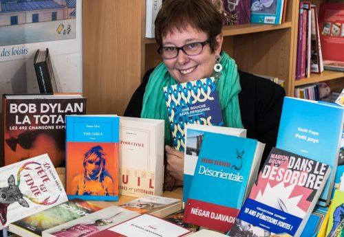 Maryline Noël, libraire à la librairie Le Comptoir à Santiago du Chili