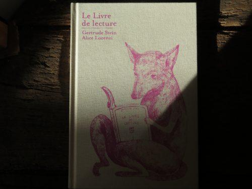 2- Le livre de lecture - Gertrude Stein - Martin Richet - Alice Lorenzi - Cambourakis - Couv