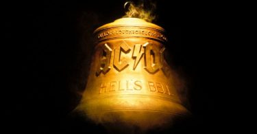 """The """"Hells Bells"""" bell on stage at an AC/DC concert."""