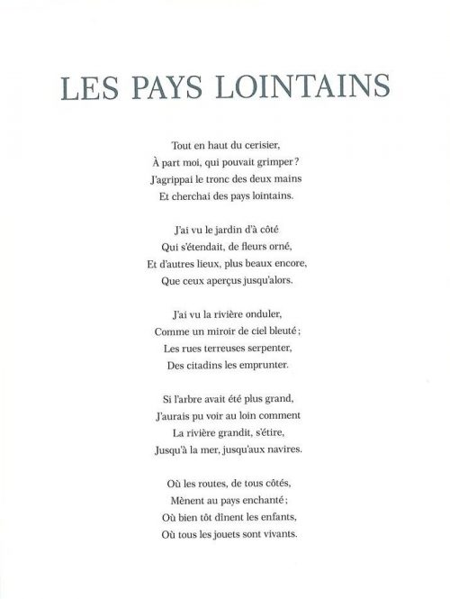 Petit Jardin de Poésie / Robert Louis Stevenson / Ilya Green