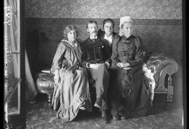 Robert Louis Stevenson and family