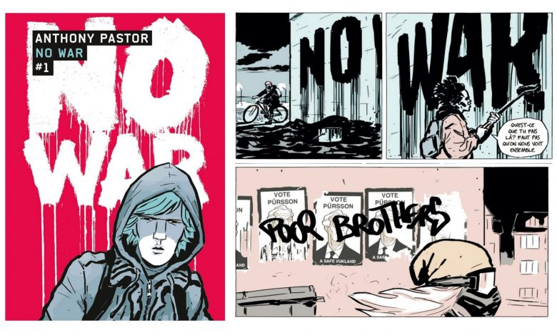 Photo de « No war » : Saga tv format bd