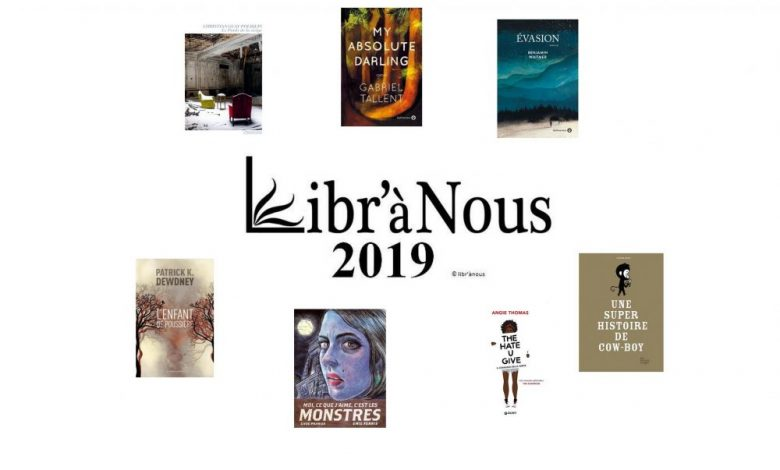 Les lauréats du prixLibr'à Nous 2019