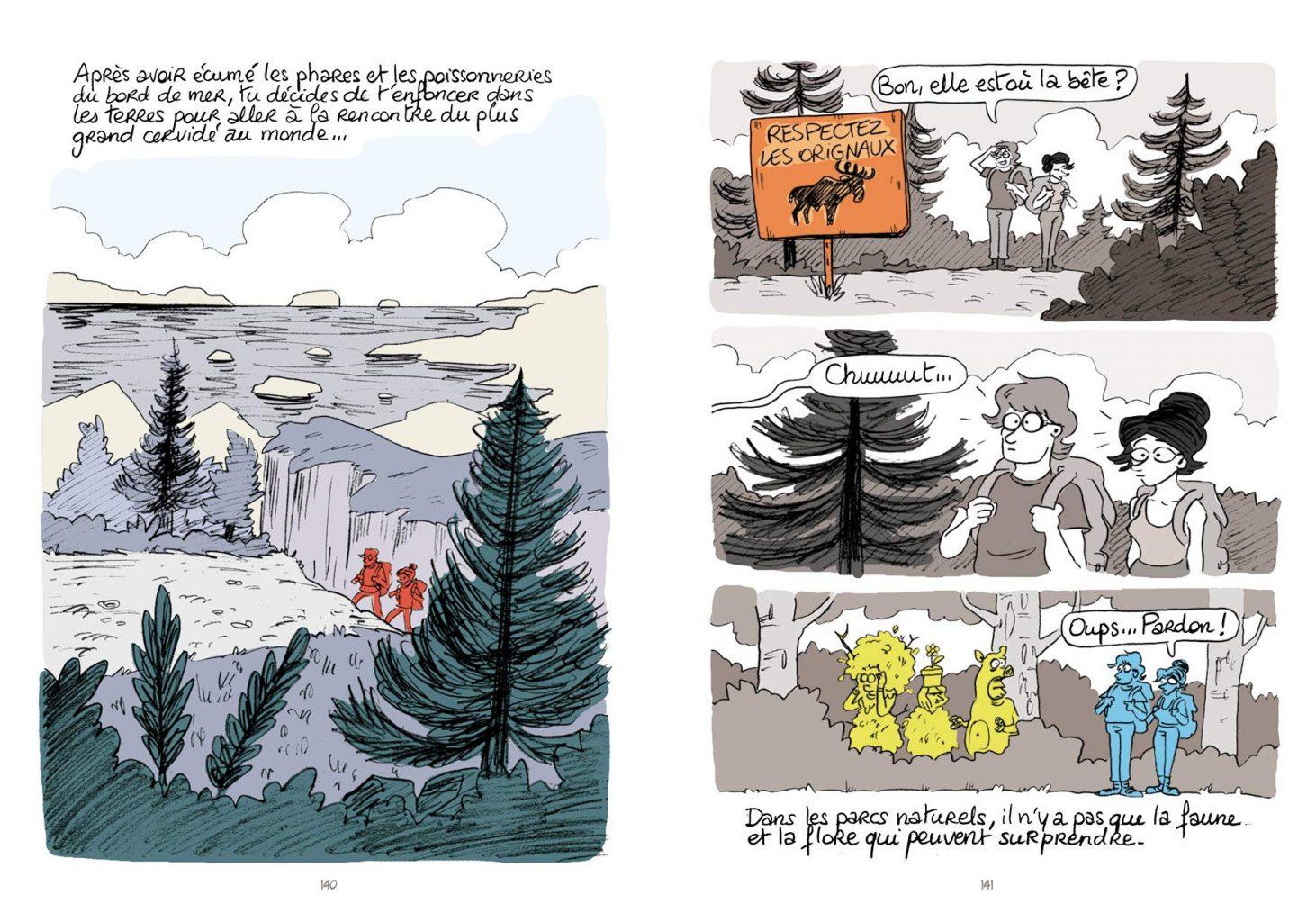 Québec Land / Pauline Bardin, Édouard Bourré-Guilbert, Aude Massot / Sarbacane
