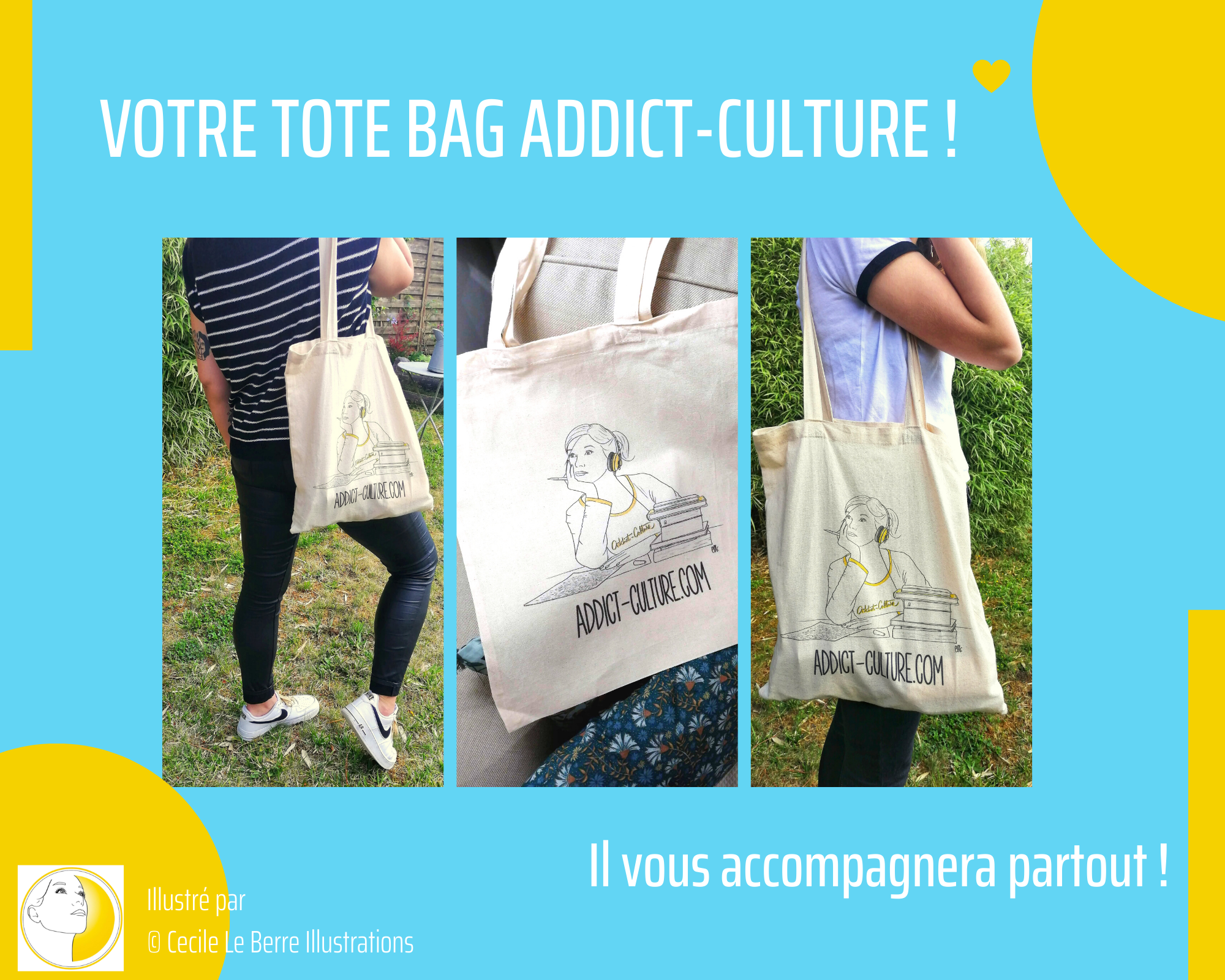 le tote bag d'addict-culture